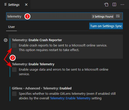 Visual Studio Code, Telemetry
